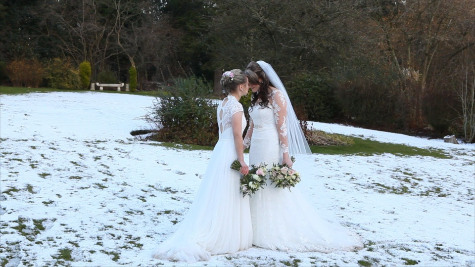Lesbian Same sex wedding taking place at Nuthurst Grange Country House
