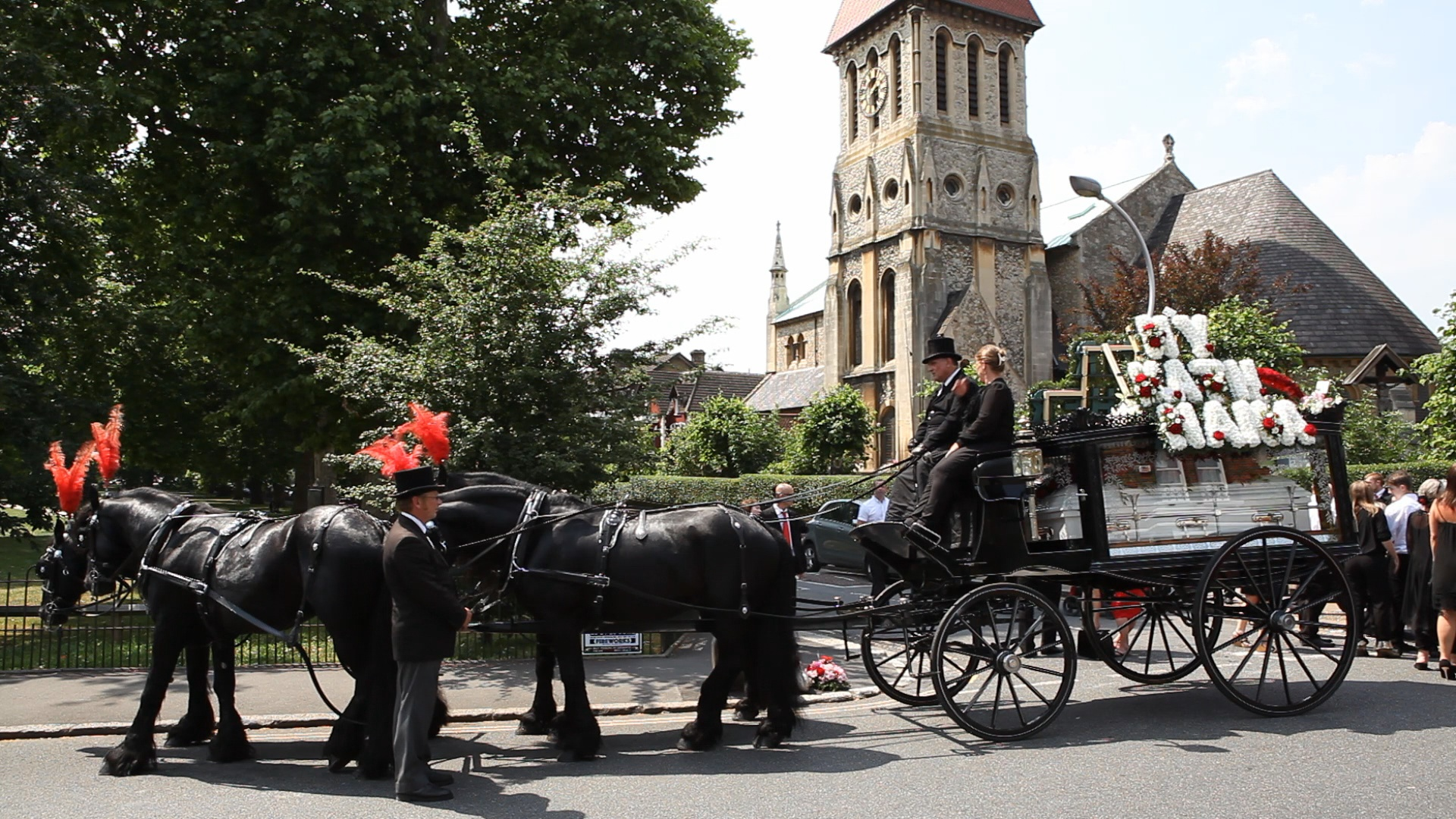 Horse drawn Funeral Cortege Procession in Northampton